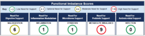 Digestion using GI Effects functional imbalance score