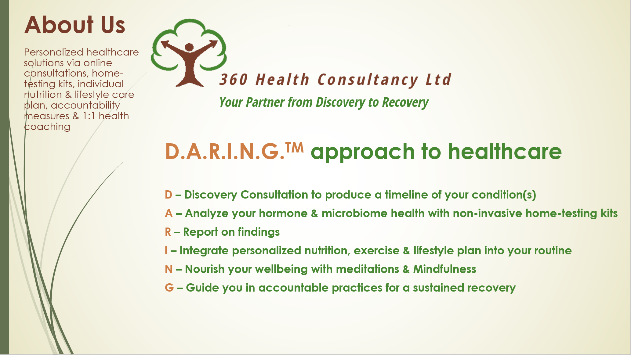 360 Health Consultancy DARING Approach to Healthcare